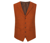 Harris Tweed Weste in Orange