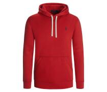 Sweatshirt mit Kapuze in Rot