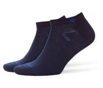 Sneaker-Socken im Doppelpack in Marine