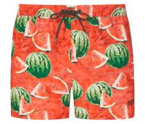 Badehose mit Wassermelonenprint in Orange