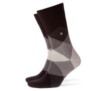 Weiche, gemusterte Socken in Schwarz