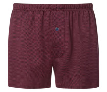 Boxershorts in Jersey-Qualität in Rot