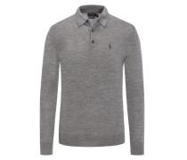 Sweatshirt mit Polokragen aus reiner Merinowolle