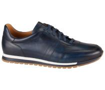 Sneaker aus Glattleder in Blau