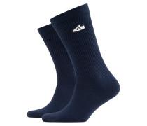 Socken mit Emblem in Marine