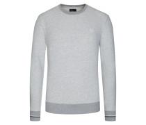 Weiches Sweatshirt mit Kontrastdetails in Silber