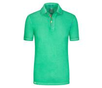 Poloshirt im Washed-Look in Gruen