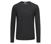 Pullover aus 100% Wolle in Oliv