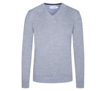 Pullover, V-Ausschnitt von Lacoste in M.grau für Herren