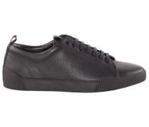 Ledersneaker in Schwarz