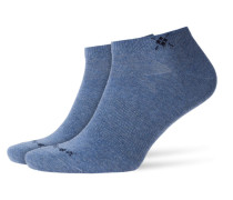 Sneaker-Socken im Doppelpack in Denim