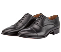 Glattleder Businessschuh, Oxford in Schwarz