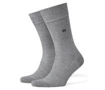 Socken, einfarbig in Grau