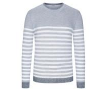 Pullover im Baumwollmix in Blau