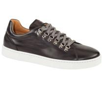 Eleganter Ledersneaker in Anthrazit