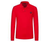 Poloshirt, Langarm, Piqué Qualität in Rot