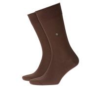 Socken im Baumwollmix, Lord in Braun