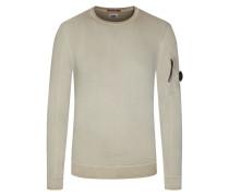 Sweatshirt, O-Neck in Oliv