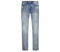 Jeans, Slim Fit in Stone