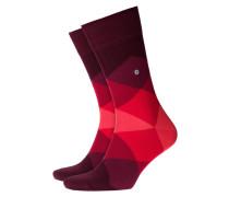 Weiche, gemusterte Socken in Rot