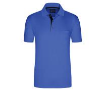 Poloshirt aus mercerisierter Baumwolle in Blau