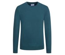 Sweatshirt im Washed-Look in Gruen