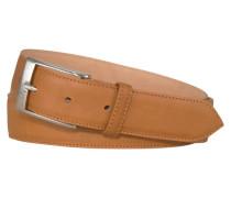 Gürtel in Soft-Rind Leder in Braun
