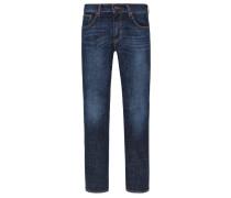 Jeans, Slim Fit, Used-Look in Marine
