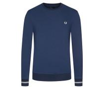 Weiches Sweatshirt mit Kontrastdetails in Marine