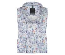 Luxor modern fit Hemd, mit Blumenprint in Weiss