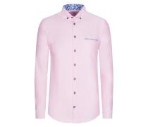 Oxford-Freizeithemd in Rosa
