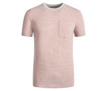T-Shirt mit Brusttasche, gestreift in Rot
