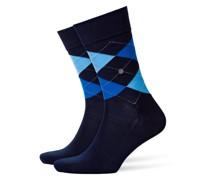 Socken mit Argyle-Muster, Manchester in Marine