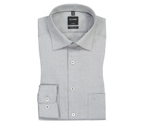 Luxor Modern Fit, Oberhemd mit Brusttasche in Grau