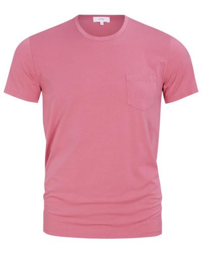 T-Shirt mit Brusttasche in Rosa