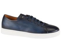 Ledersneaker in Blau