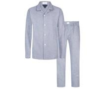 Flanell-Schlafanzug  Marine
