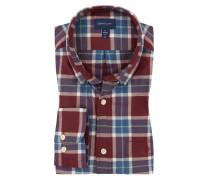Kariertes Oberhemd, Regular Fit in Rot