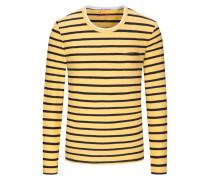 Gestreiftes Sweatshirt in Gelb