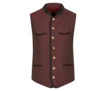 Trachtenweste in modischem Design in Rot
