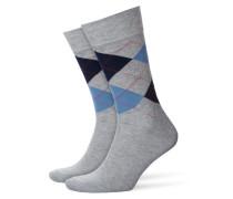 Gemusterte Socken, King in Grau