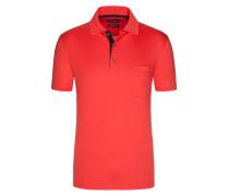 Poloshirt aus mercerisierter Baumwolle in Rot