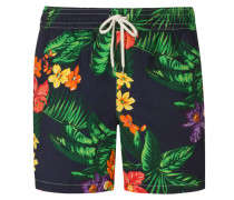 Badehose, florales Muster in Marine