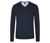 Basic V-Neck Pullover in Schwarz