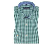 Trachtenhemd mit Karo-Muster in Gruen