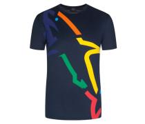 T-Shirt mit Frontprint in Marine