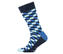 Socken in modischem Muster in Blau