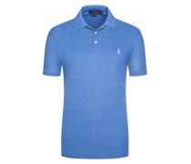 Angenhem softes Poloshirt, Slim Fit in Blau