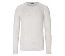 Pullover mit Stretchanteil in Grau