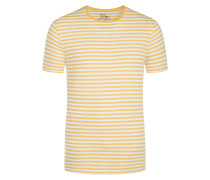 T-Shirt, O-Neck in Gelb